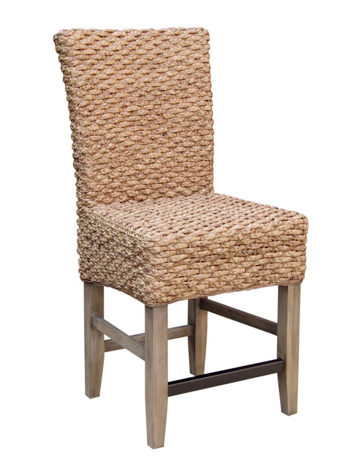 Hampton Seagrass Counter Height Chair (Set Of 2)