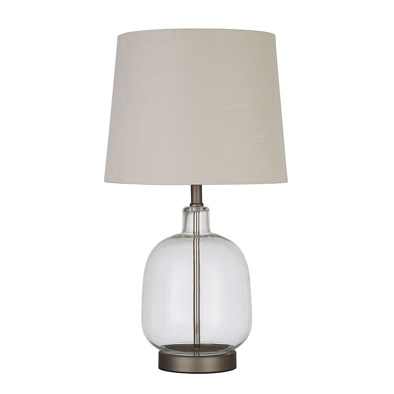 Clear Glass Table Lamp Lighting Accents