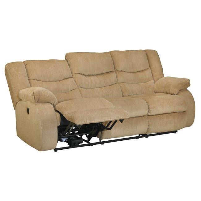Garek Sand Reclining Sofa W Power By Signature Design By