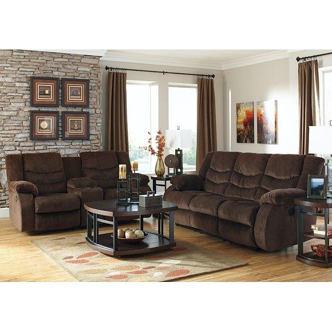 Garek Cocoa Reclining Living Room Set By Signature Design