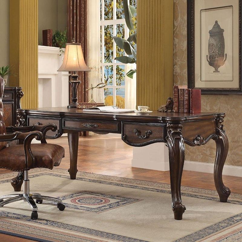 Versailles Executive Desk Cherry Oak By Acme Furniture