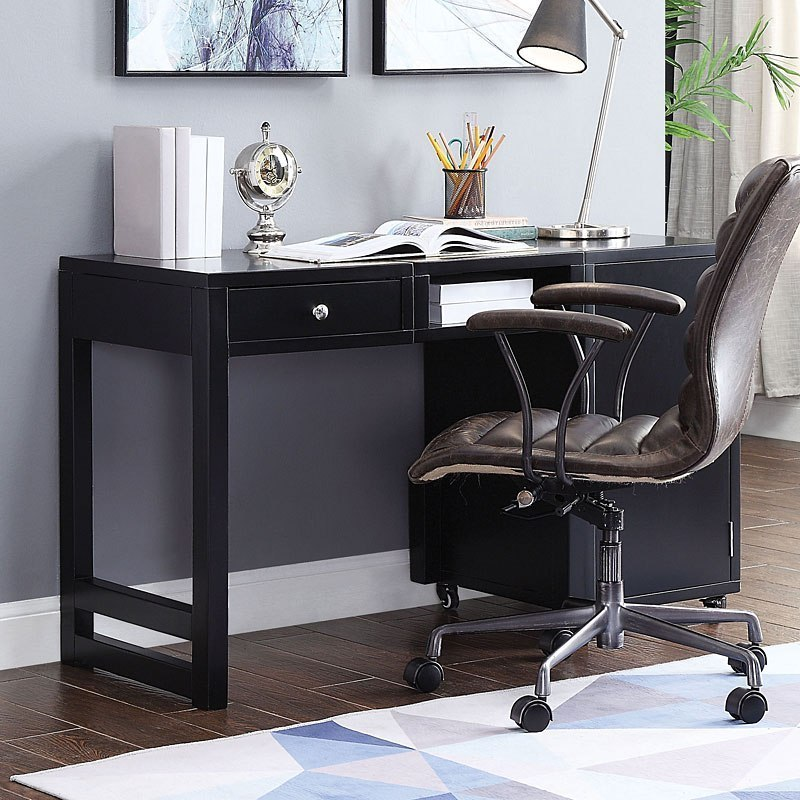 Kaniel Convertible Desk Black By Acme