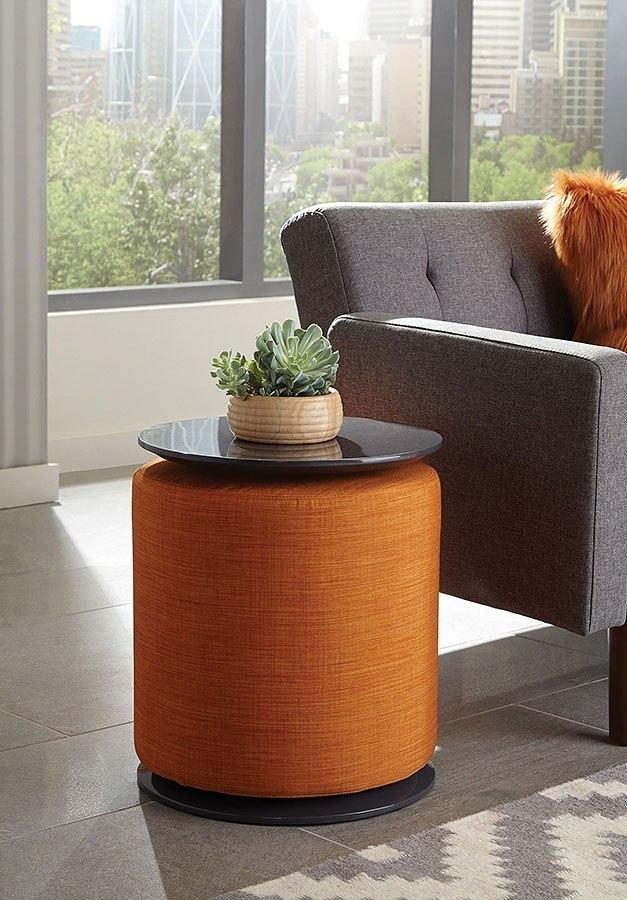 Accent Table W Orange Ottoman By Coaster Furniture