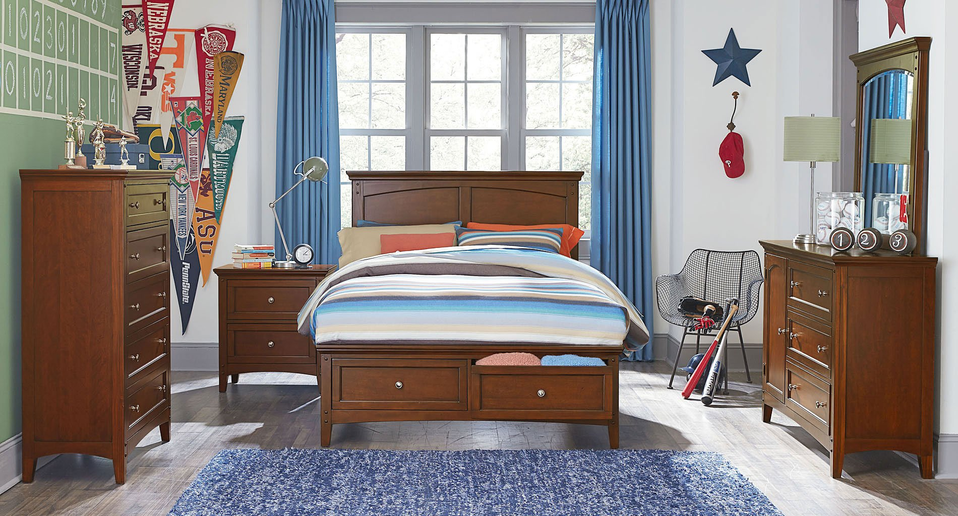 Stupendous Cooperstown Youth Storage Bedroom Set By Standard Furniture Home Interior And Landscaping Ferensignezvosmurscom