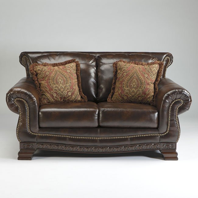 Ashley Furniture Bryant Ar Collection Collection Ashley: Ledelle DuraBlend Antique Loveseat By Signature Design By