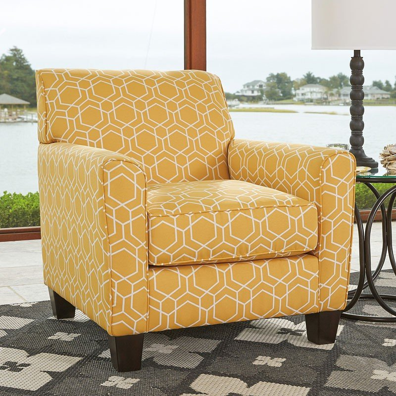 Ayanna Nuvella Gold Accent Chair By Benchcraft 1 Review S