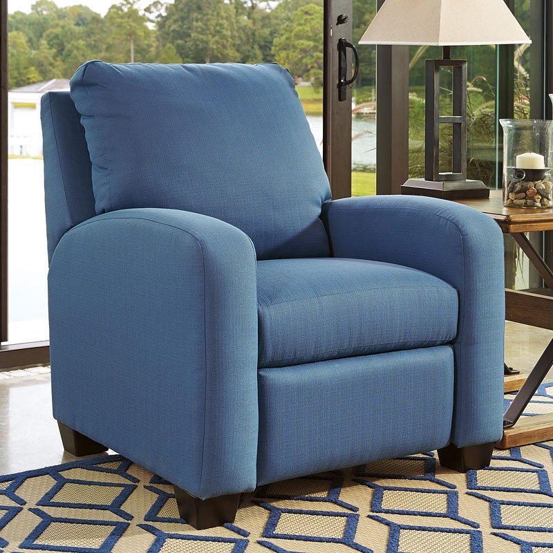 Ayanna Nuvella Blue Low Leg Recliner By Benchcraft