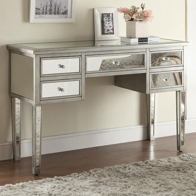 Antique Silver Console Table Occasional And Accent