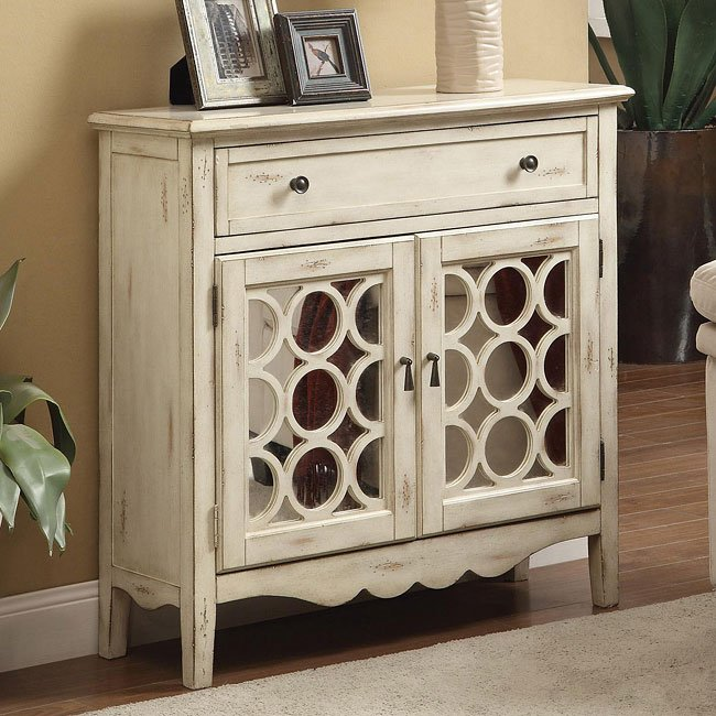Antique White Accent Cabinet By Coaster Furniture
