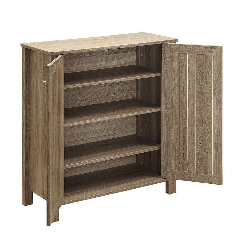 Shoe Cabinet Weathered Grey By Coaster Furniture