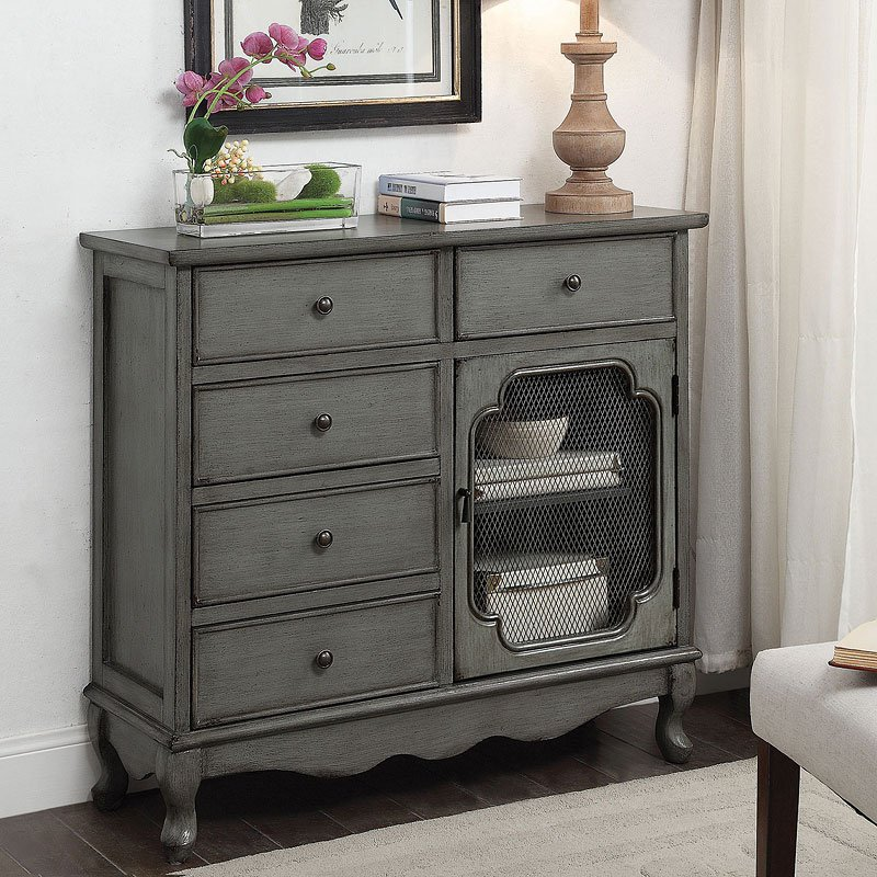 Country Inspired Accent Cabinet By Coaster Furniture
