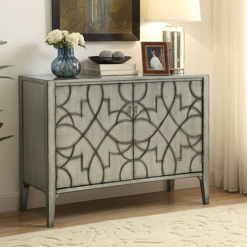 Carved Doors Accent Cabinet Accent Chests And Cabinets