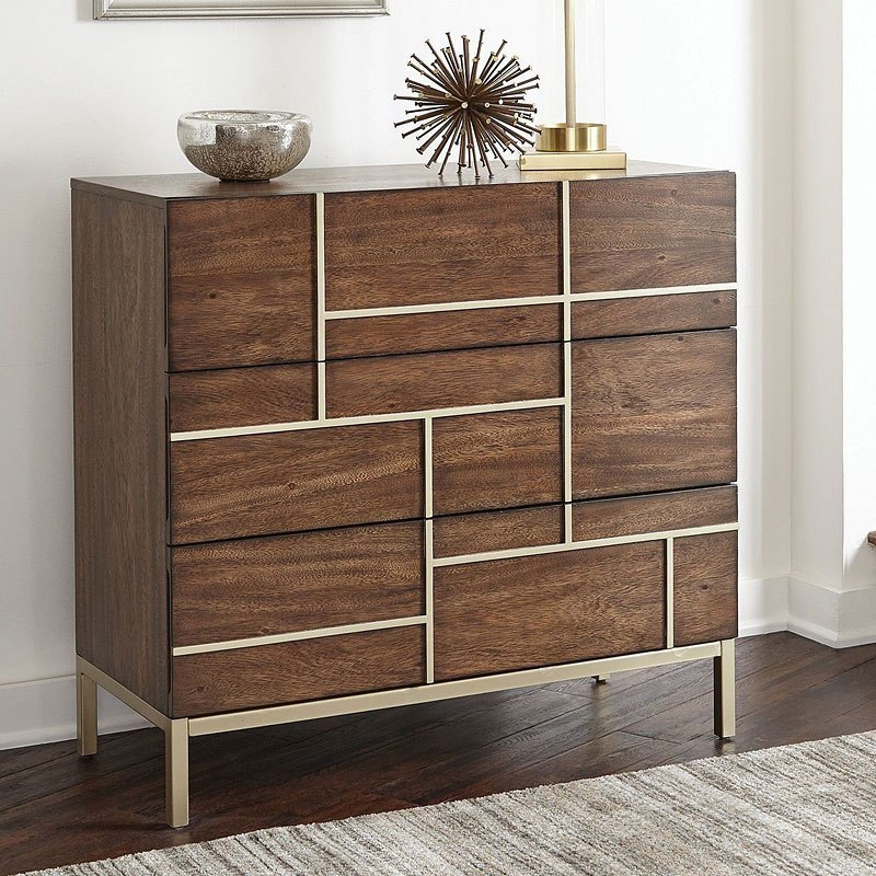 Warm Brown Mid Century Modern Accent Cabinet By Coaster