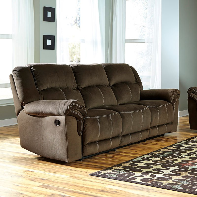 Quinnlyn Coffee Reclining Sofa Reclining Sofas Living