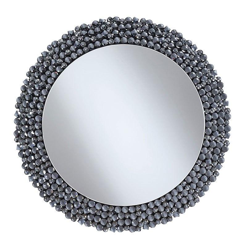 Grey Round Wall Mirror By Coaster Furniture Furniturepick
