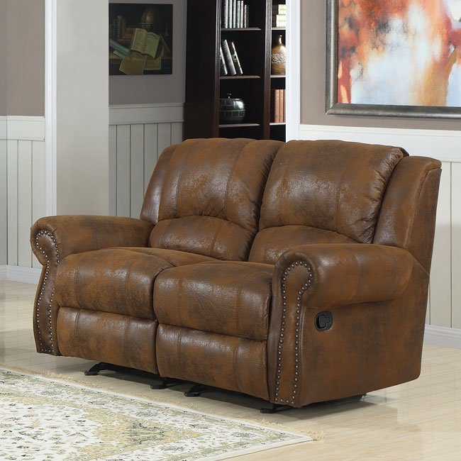 Quinn Reclining Living Room Set (Bomber Jacket Microfiber