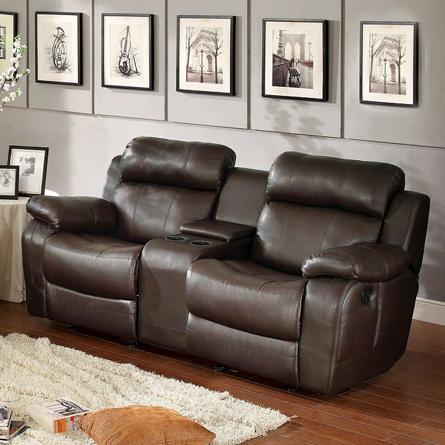Marille reclining living room set brown by homelegance - Oberson gunsmoke reclining living room set ...