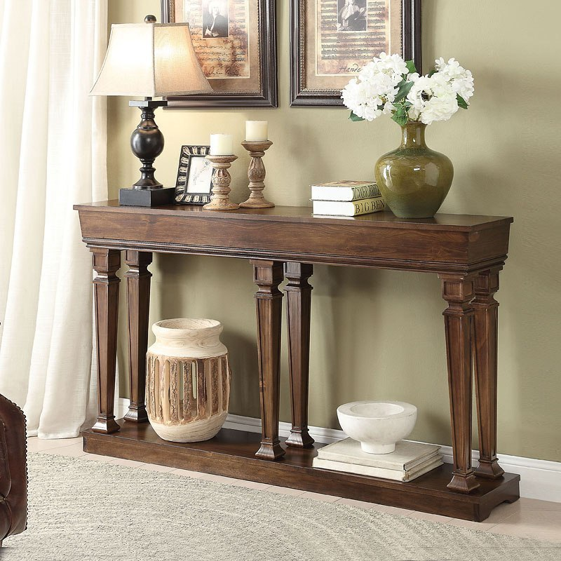 Garrison 72 Inch Width Console Table by Acme Furniture ...