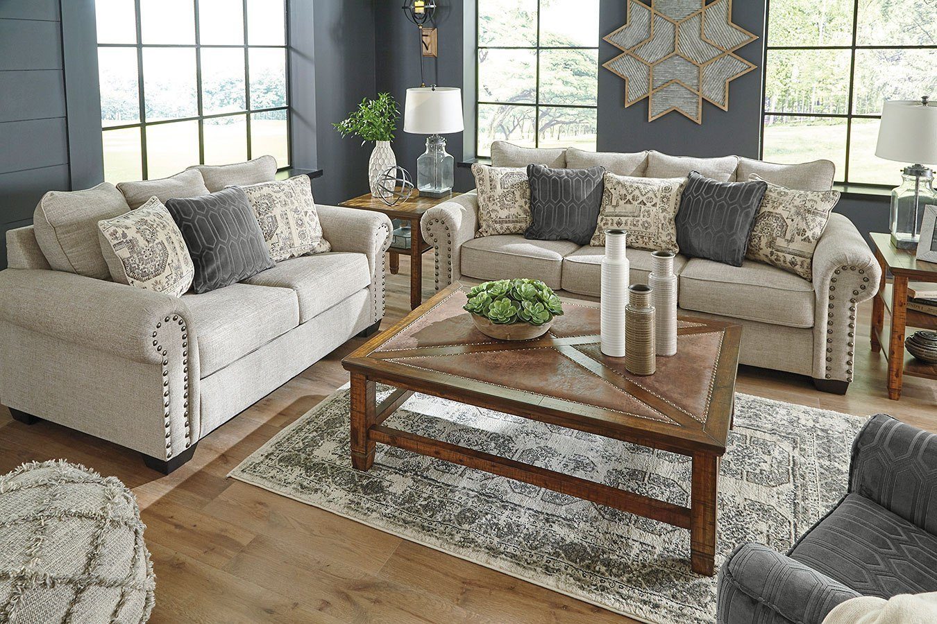 Zarina Jute Living Room Set By Signature Design By Ashley