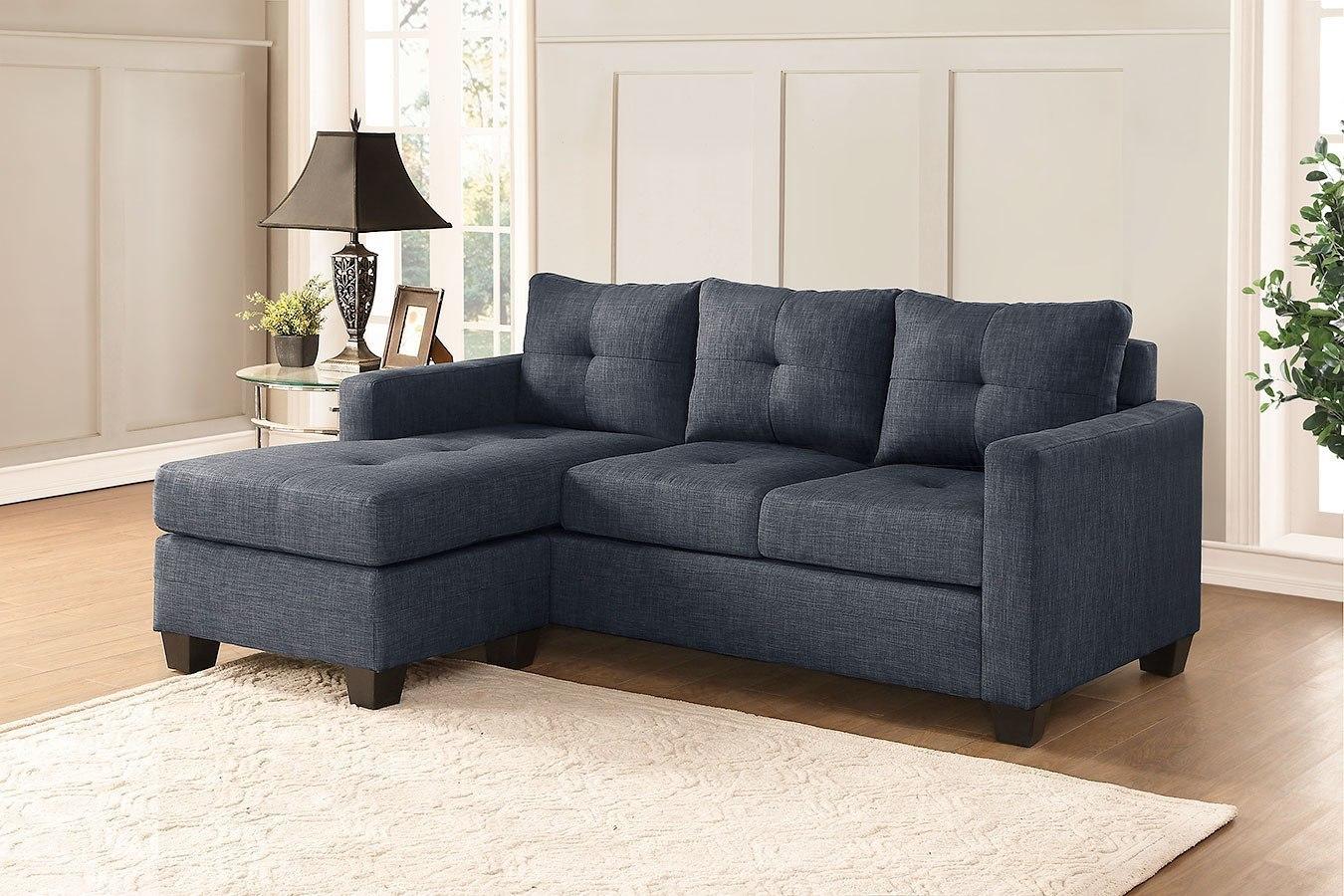 Phelps Reversible Sofa Chaise (Dark Gray) By Homelegance