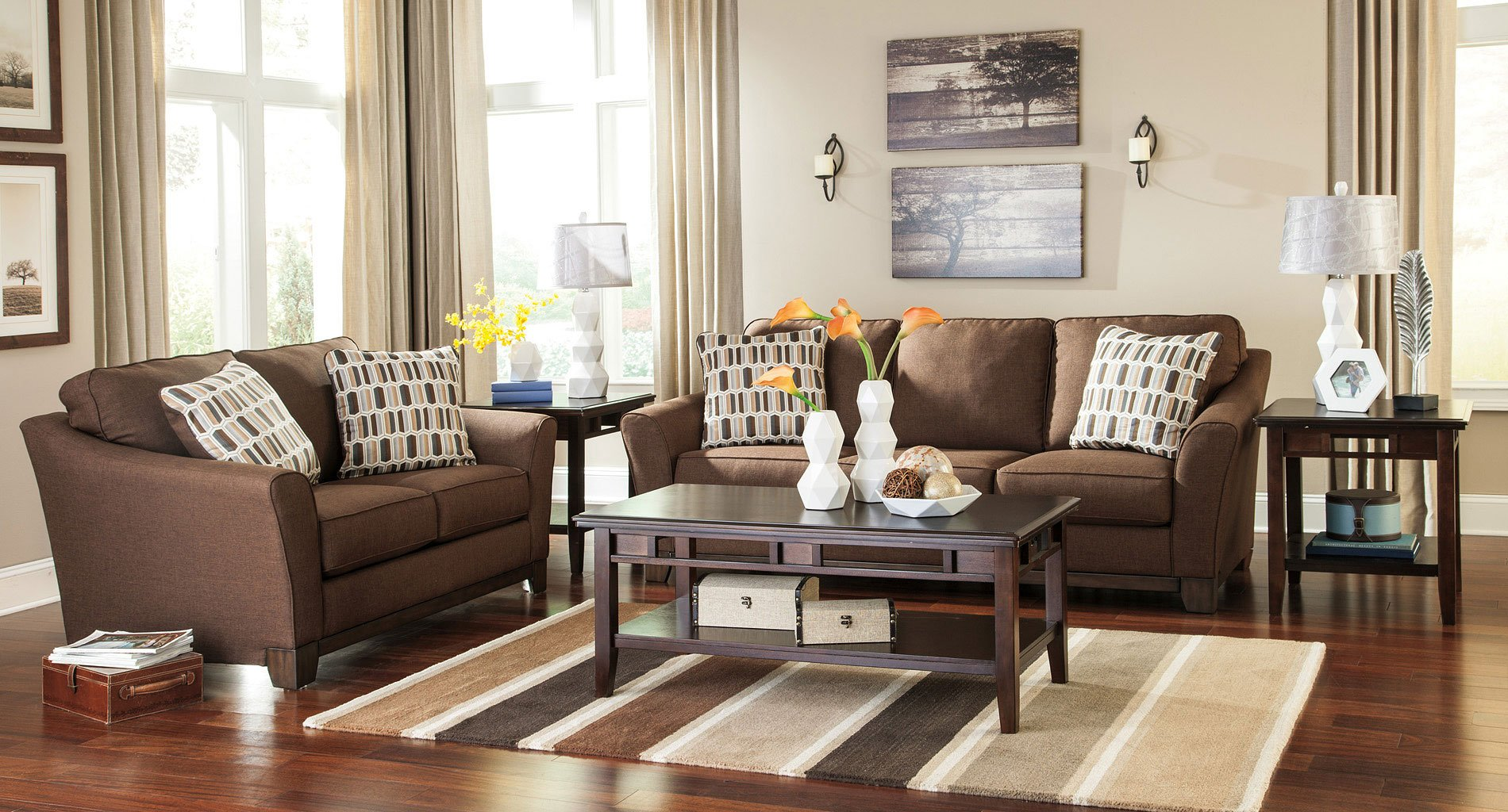 Alara Chocolate Living Room Set