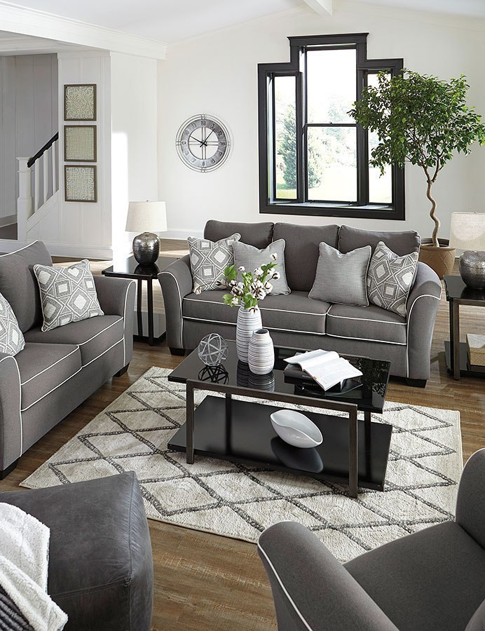 Domani Charcoal Living Room Set By Signature Design By