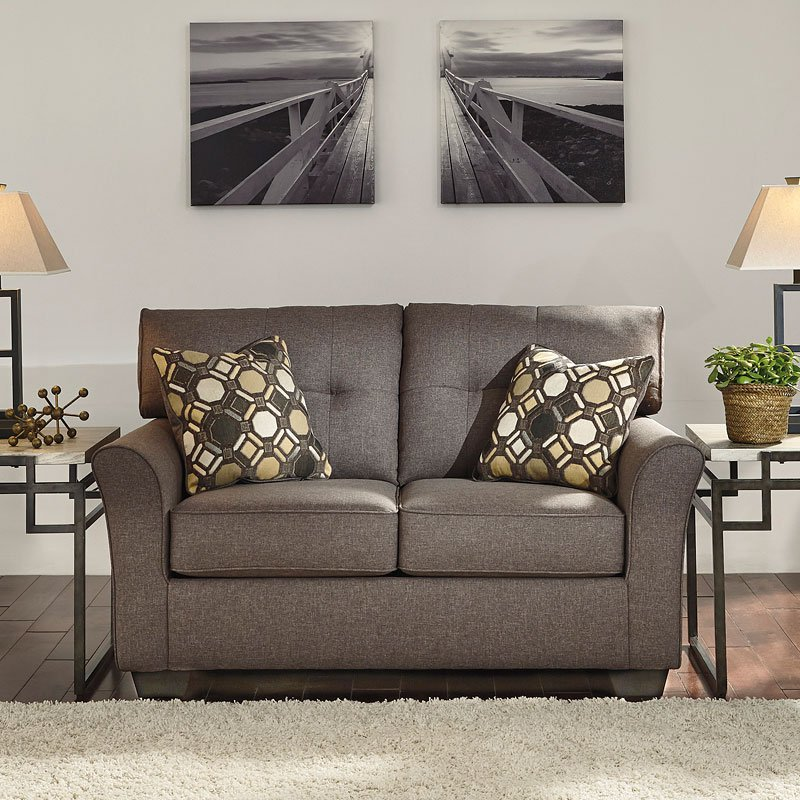 tibbee slate loveseat living room furniture living