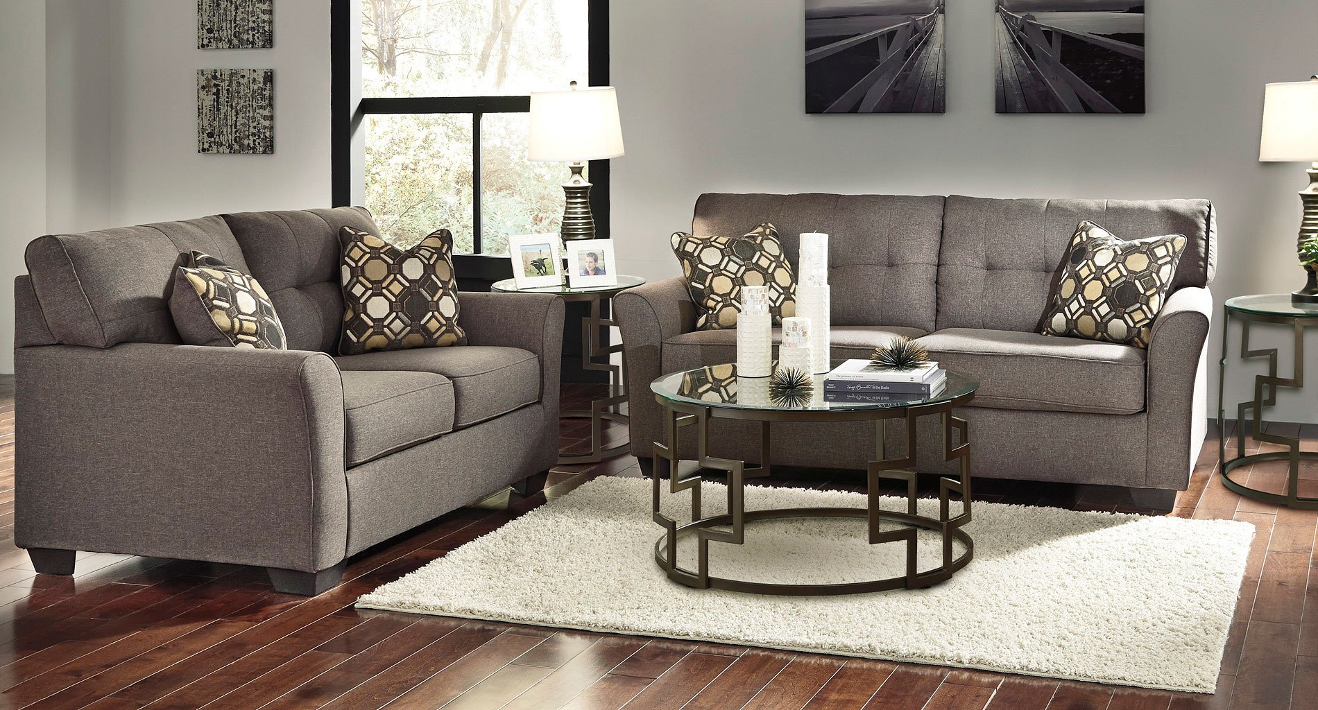 Tibbee Slate Living Room Set