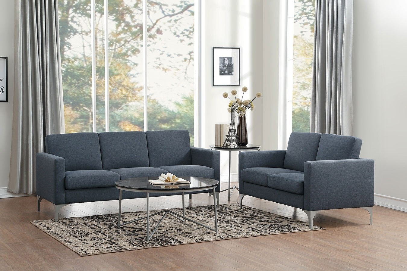 Soho Living Room Set Dark Gray By Homelegance