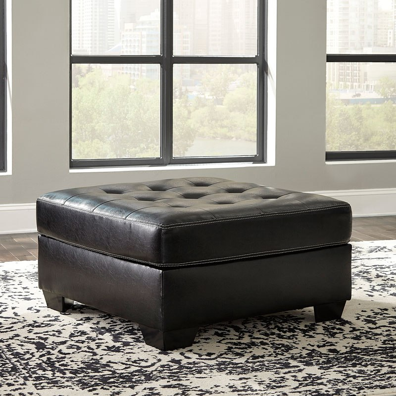 Jacurso Charcoal Oversized Accent Ottoman By Signature