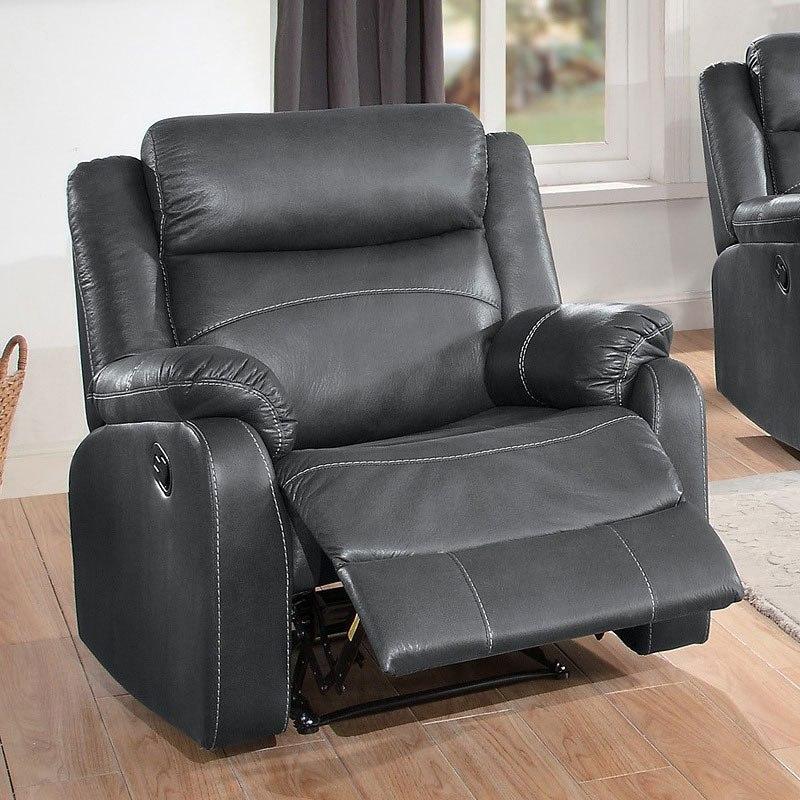 Yerba Lay Flat Reclining Living Room Set (Dark Gray) By
