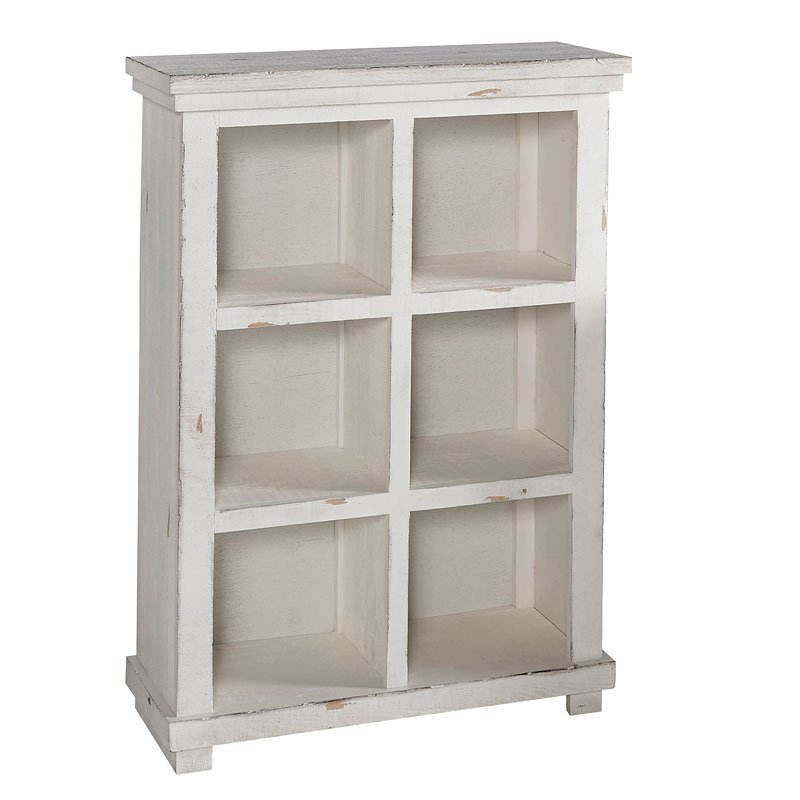Willow 48 Inch Height Bookcase (Distressed White