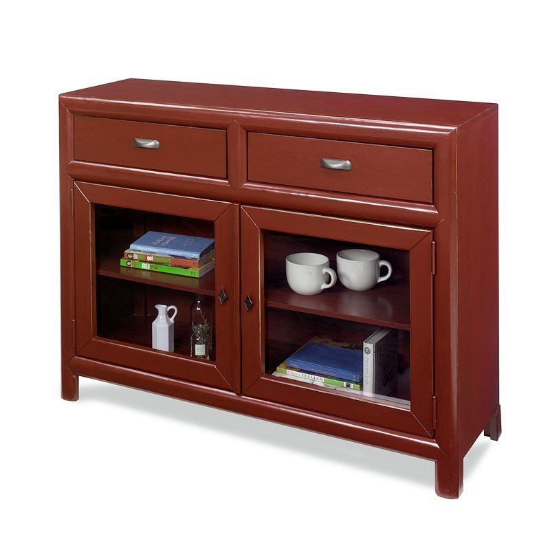 Shelby Curio Cabinet (Barn Red)