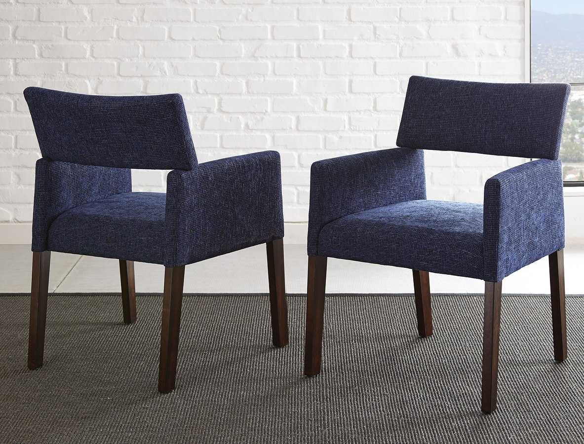 Amalie Side Chair (Navy) (Set Of 2)