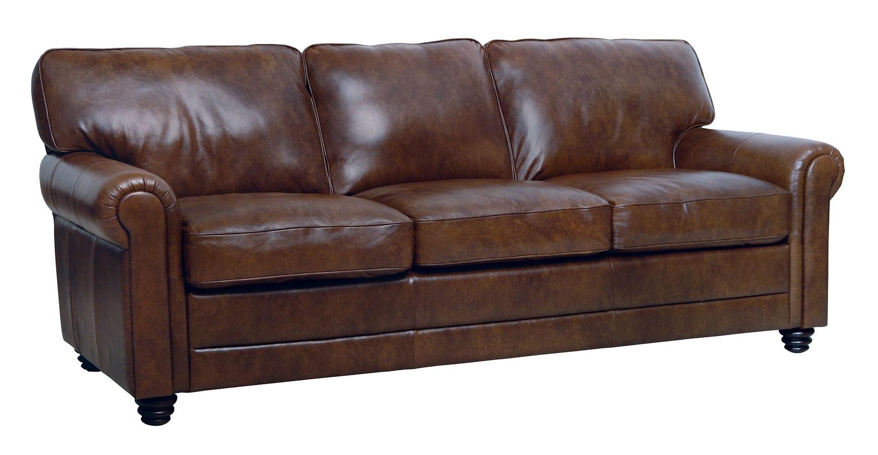 Andrew Italian Leather Sofa by Luke Leather | FurniturePick