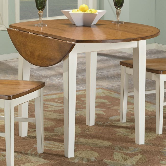 Arlington Drop Leaf Table White Java By Intercon Furniture