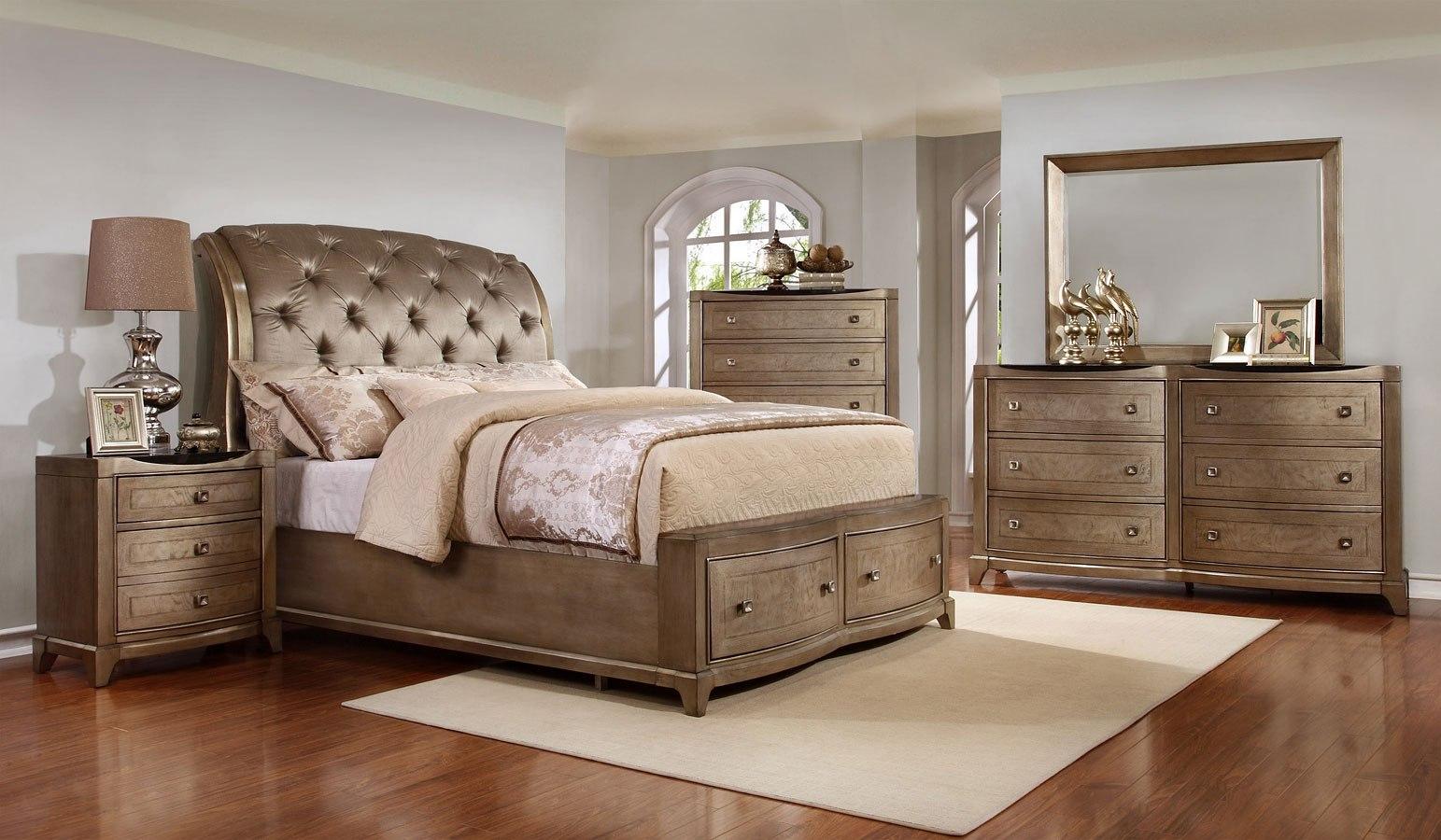 Uptown Sleigh Storage Bedroom Set By Avalon Furniture Furniturepick