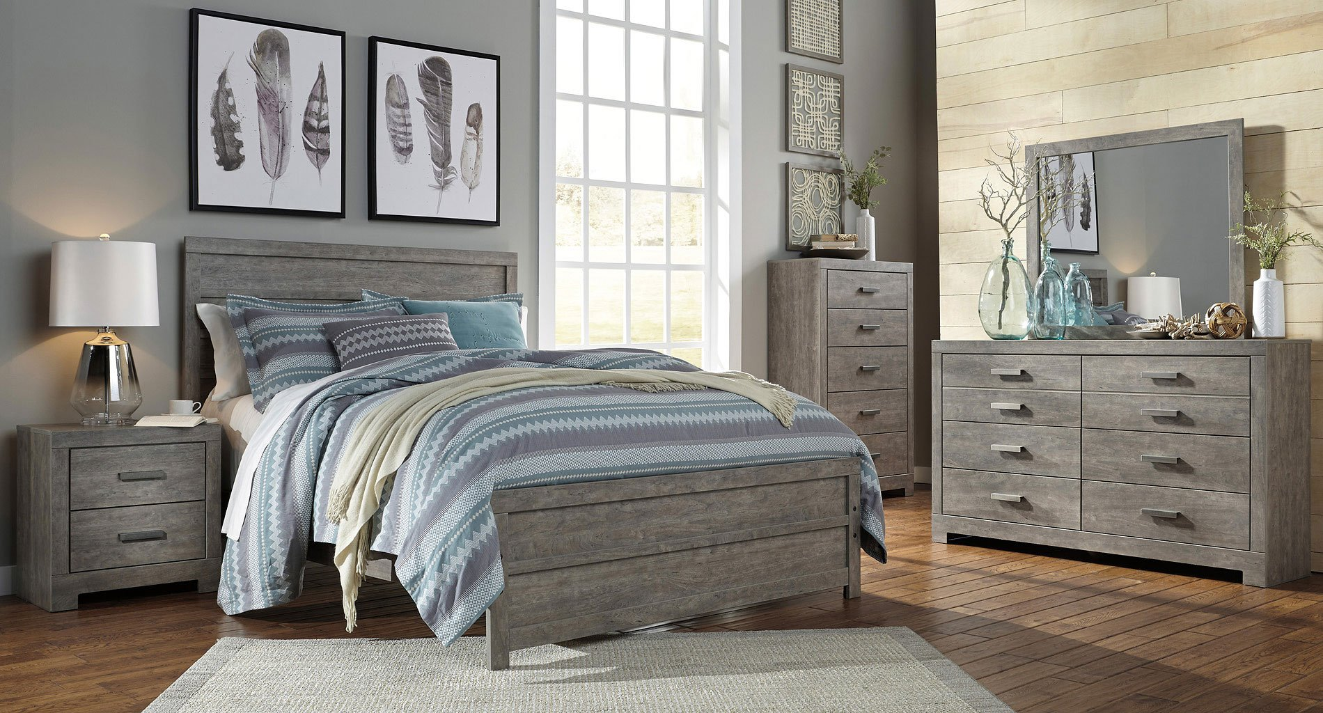 culverbach panel bedroom set by signature design by ashley 1 reviews furniturepick