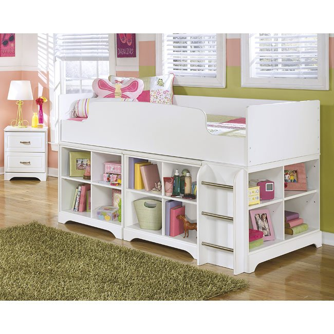 Lulu Bedroom Set W Loft Storage Bed Signature Design By