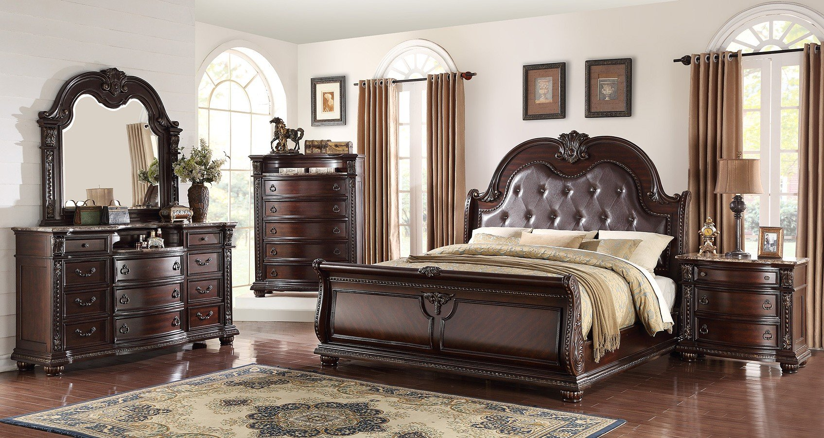Cute Sleigh Bedroom Sets Exterior
