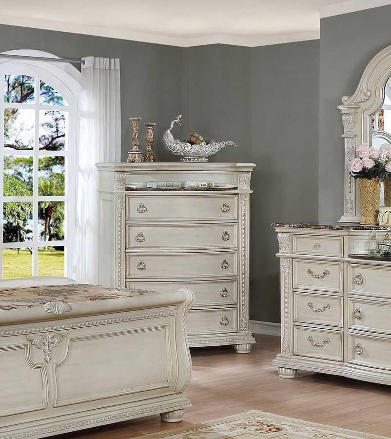 stanley sleigh bedroom set antique white bedroom 87958