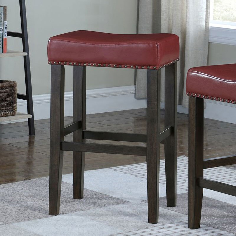 Jersey Backless Bar Stool Red By American Woodcrafters