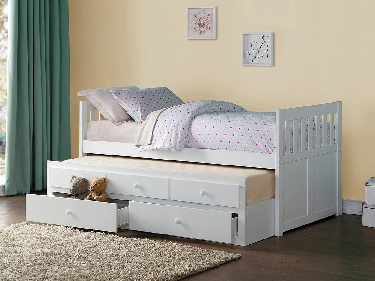 Galen Twin Trundle Bed W Storage Drawers By Homelegance Furniturepick
