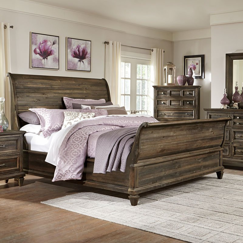 Calistoga Sleigh Bed By Magnussen 1 Reviews Furniturepick