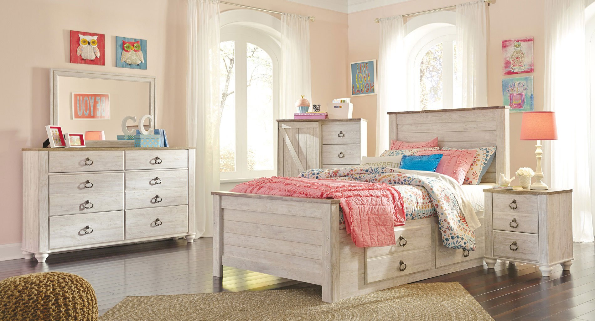 Willowton youth storage bedroom set by signature design by - Youth bedroom furniture with storage ...