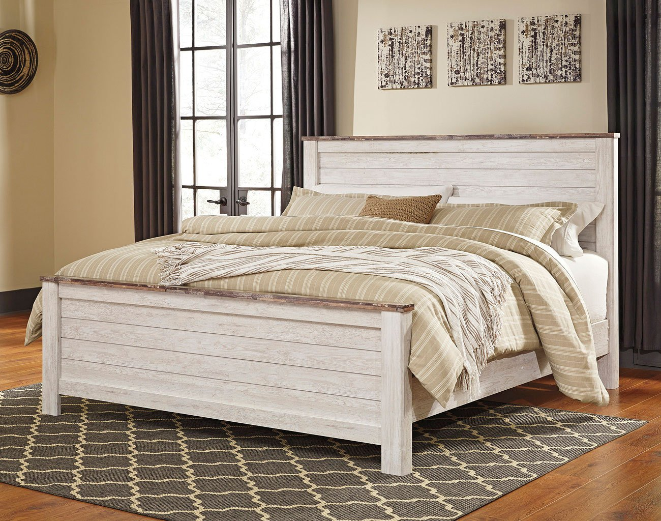 Willowton panel bedroom set by signature design by ashley - Ashley bedroom furniture reviews ...