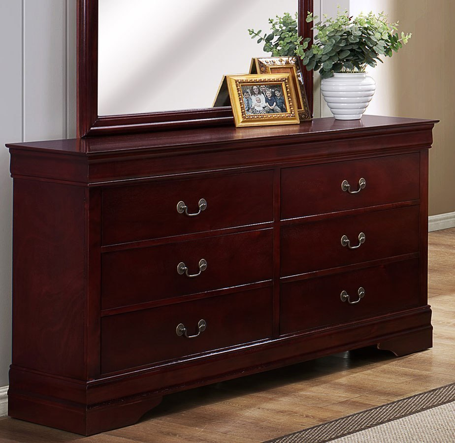 Louis philip dresser cherry dressers bedroom for Furniture markup
