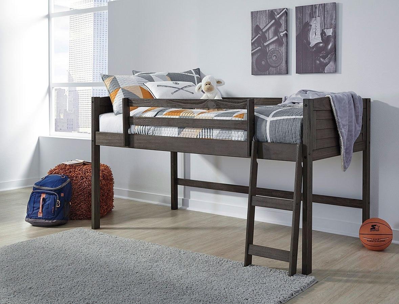 caitbrook twin loft bed frame by signature design by ashley furniturepick. Black Bedroom Furniture Sets. Home Design Ideas