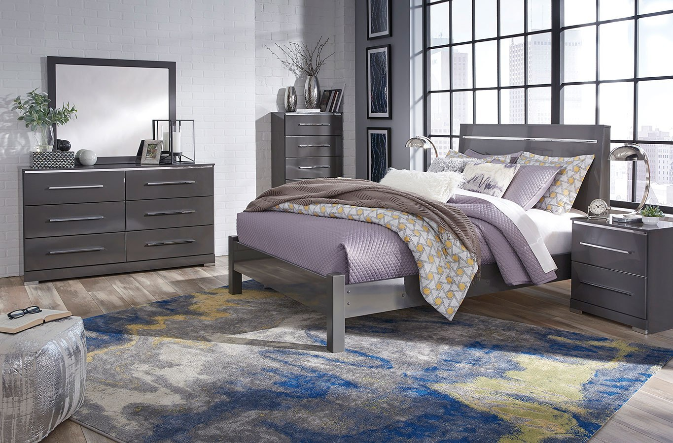 Steelson panel bedroom set by signature design by ashley - Ashley bedroom furniture reviews ...