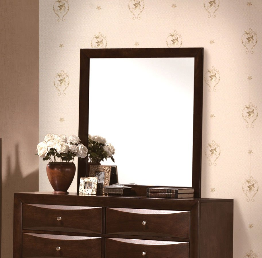 Emilie Bedroom Collection: Emily Bookcase Bedroom Set (Brown) By Crown Mark Furniture